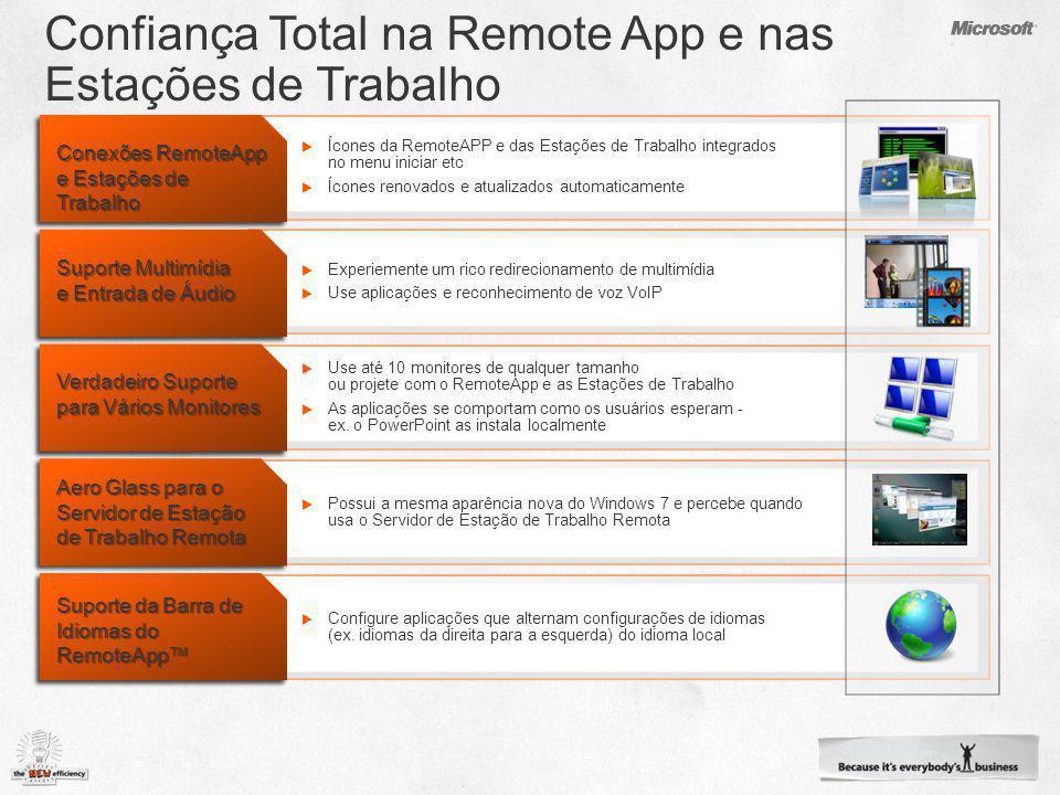 Confiança Total na Remote App e nas Estações de Trabalho