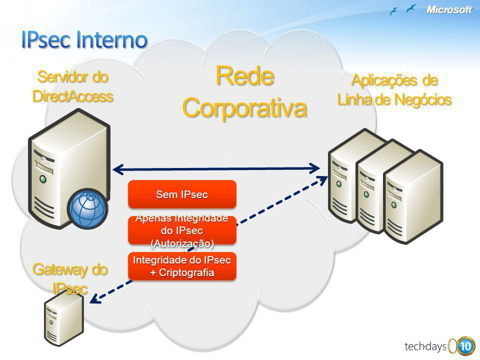 IPsec Interno Rede Corporativa Servidor do DirectAccess