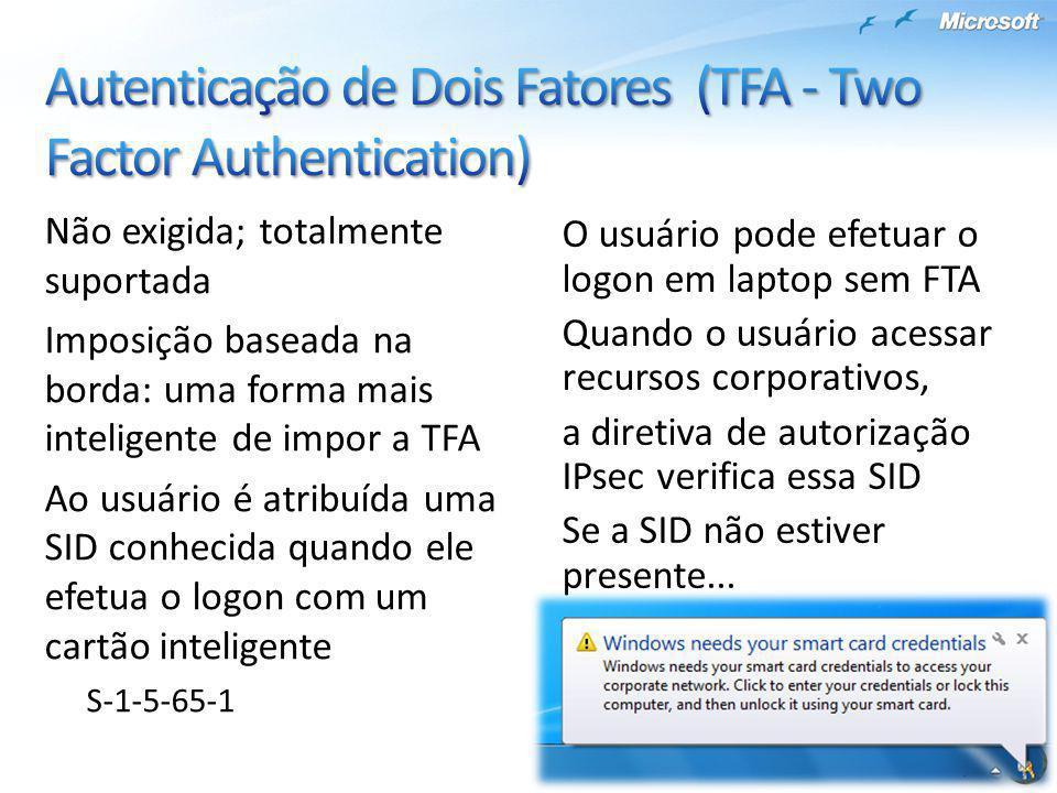 Autenticação de Dois Fatores (TFA - Two Factor Authentication)
