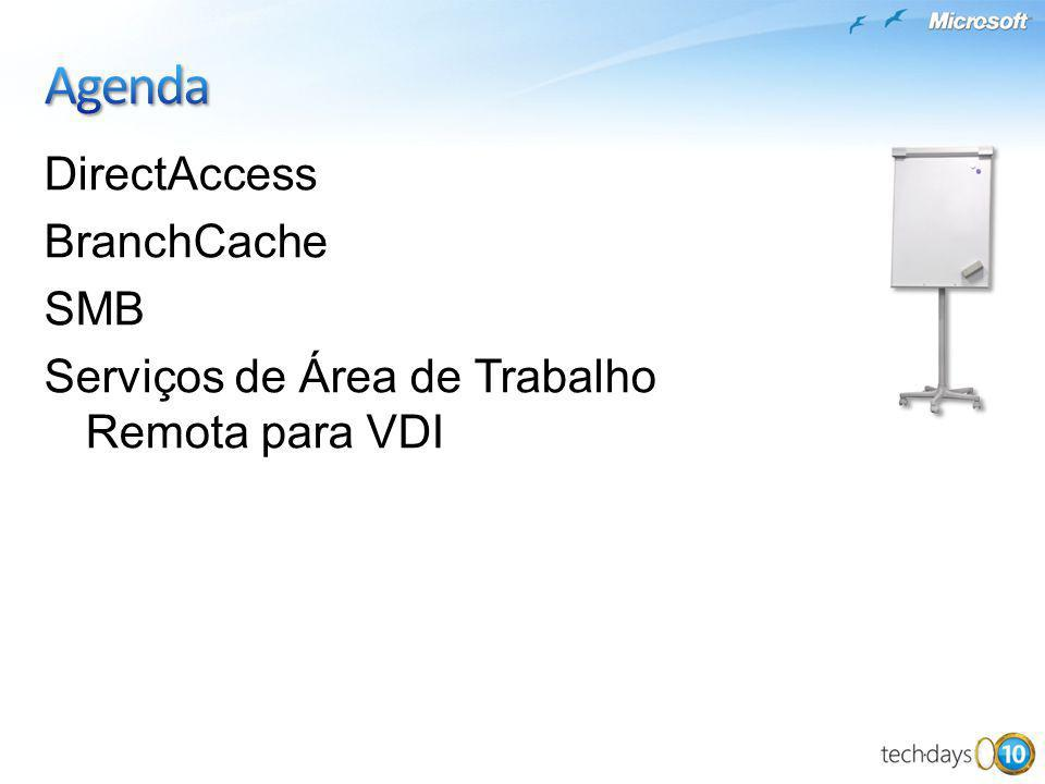 Agenda DirectAccess BranchCache SMB