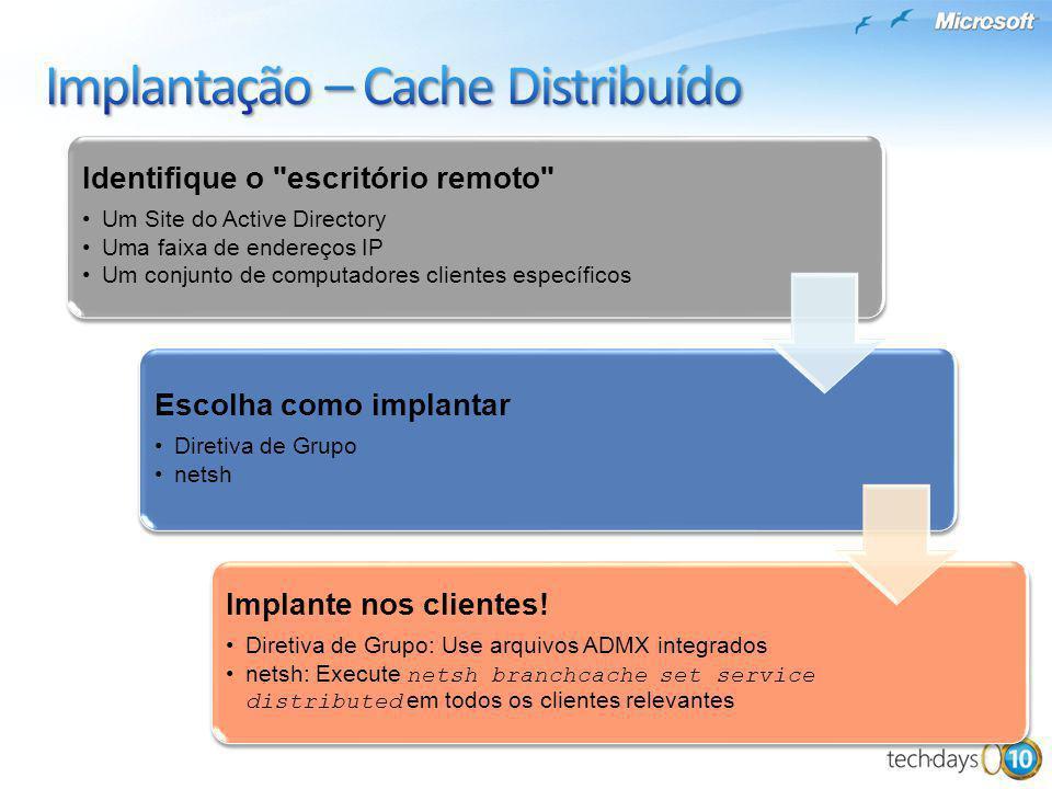 Implantação – Cache Distribuído