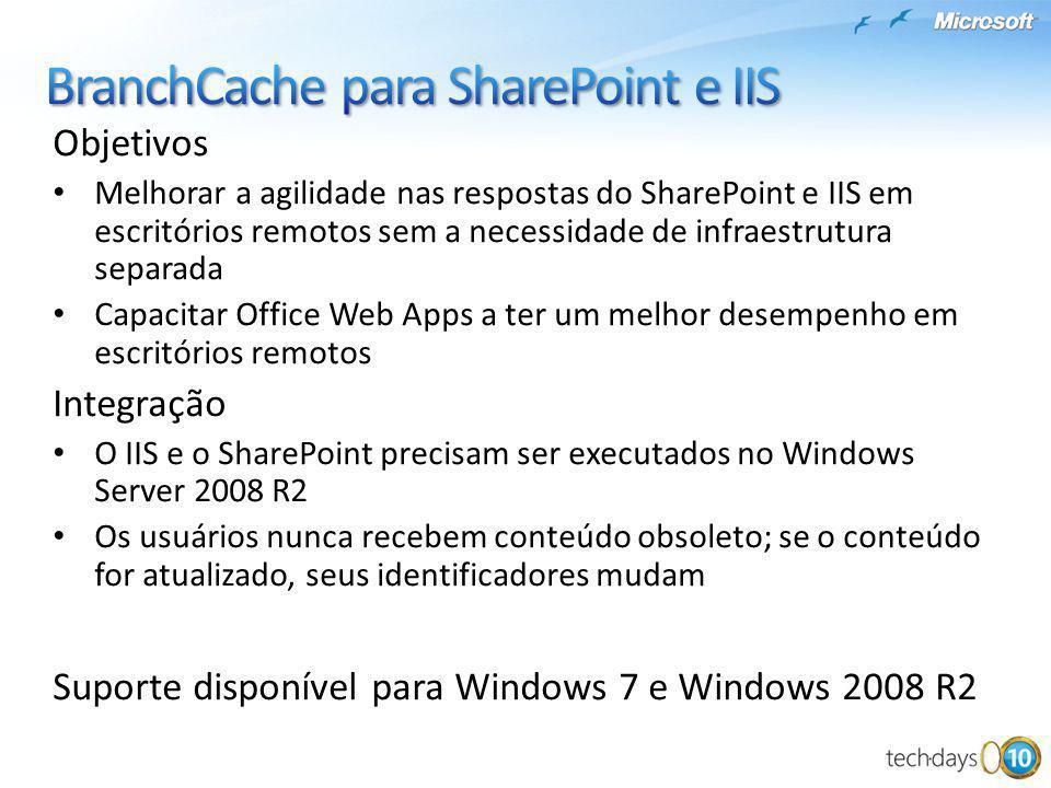 BranchCache para SharePoint e IIS