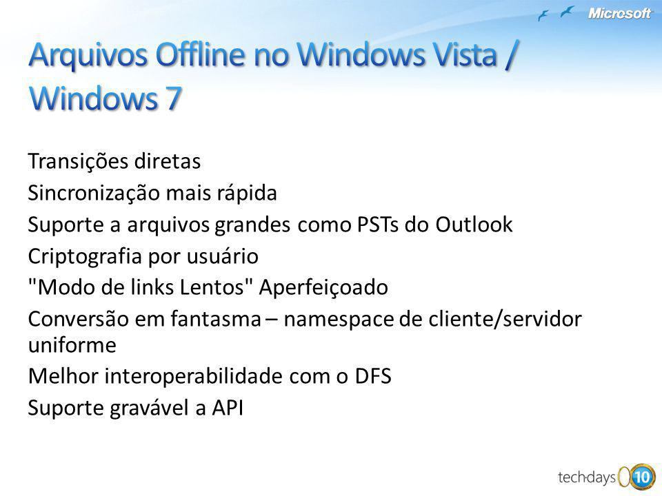 Arquivos Offline no Windows Vista / Windows 7