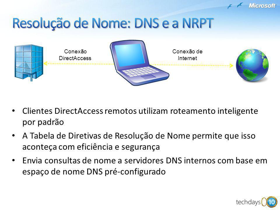 Resolução de Nome: DNS e a NRPT