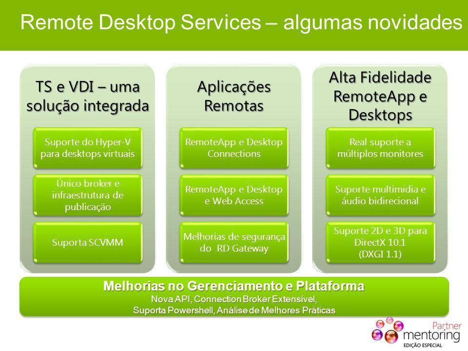 Remote Desktop Services – algumas novidades