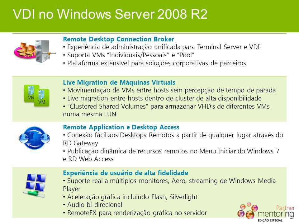 VDI no Windows Server 2008 R2 Remote Desktop Connection Broker