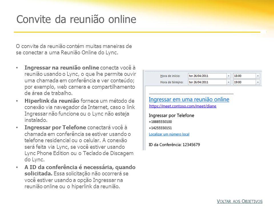 Convite da reunião online