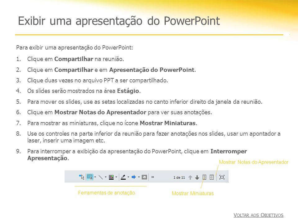 Exibir uma apresentação do PowerPoint