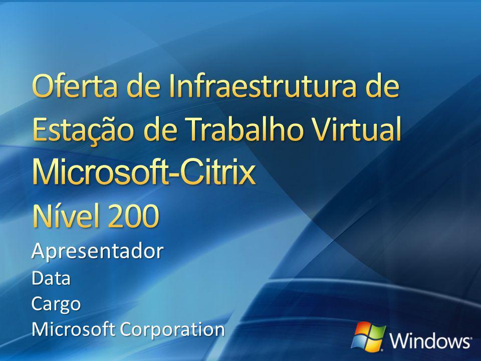 Oferta de Infraestrutura de Estação de Trabalho Virtual Microsoft-Citrix