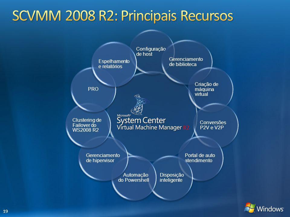 SCVMM 2008 R2: Principais Recursos