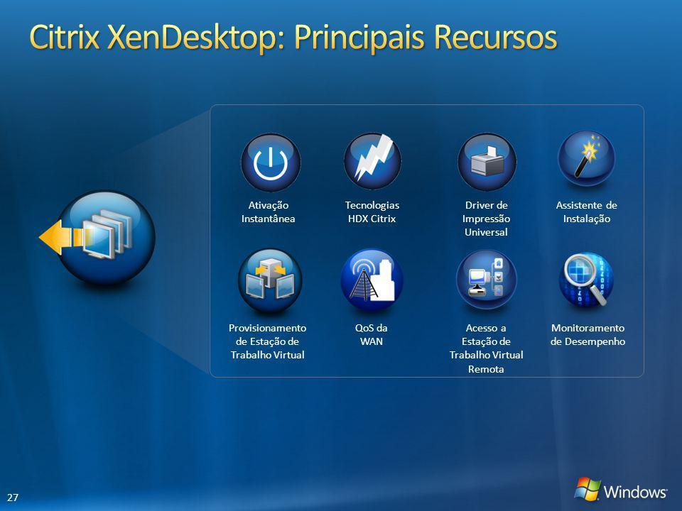 Citrix XenDesktop: Principais Recursos