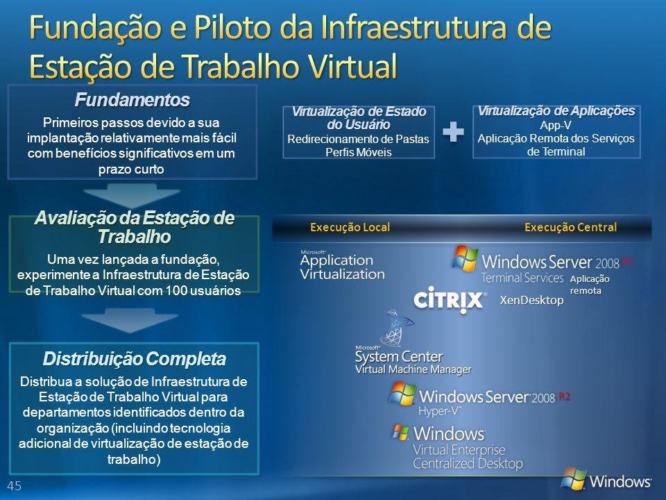 Fundação e Piloto da Infraestrutura de Estação de Trabalho Virtual
