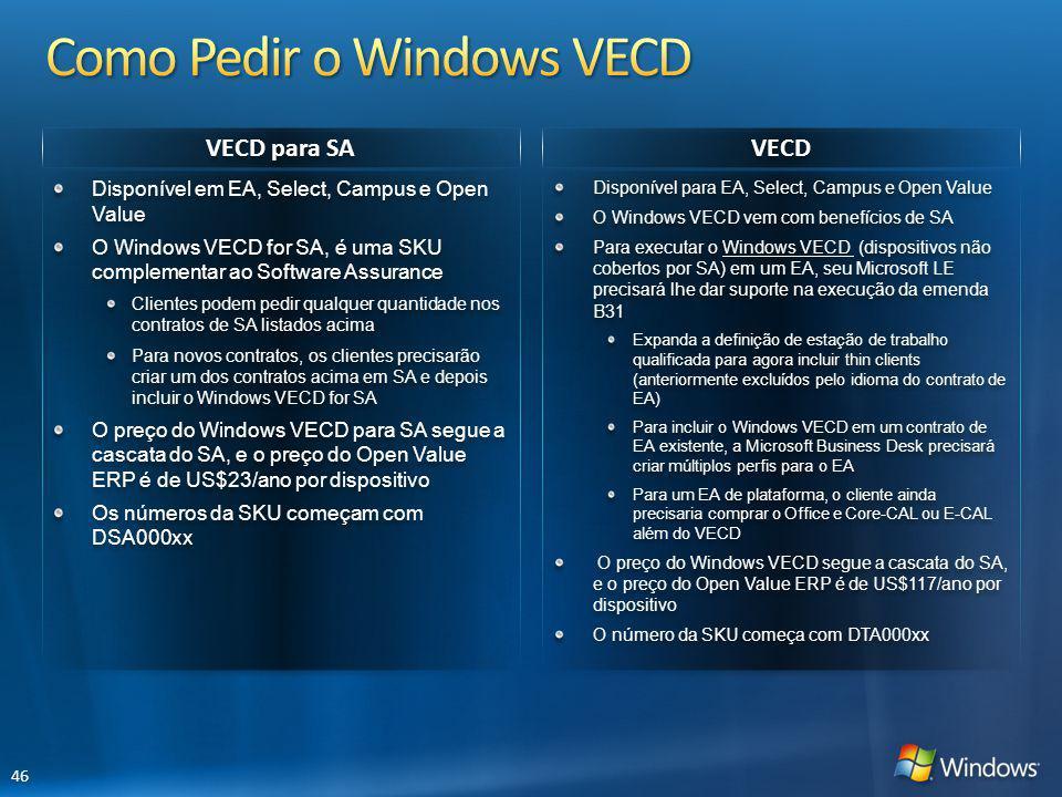 Como Pedir o Windows VECD