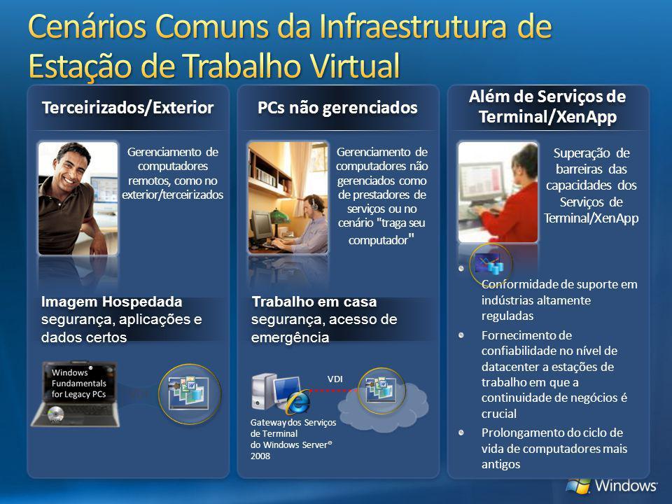Cenários Comuns da Infraestrutura de Estação de Trabalho Virtual