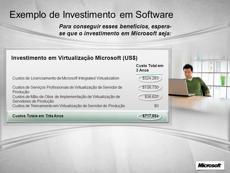 Exemplo de Investimento em Software