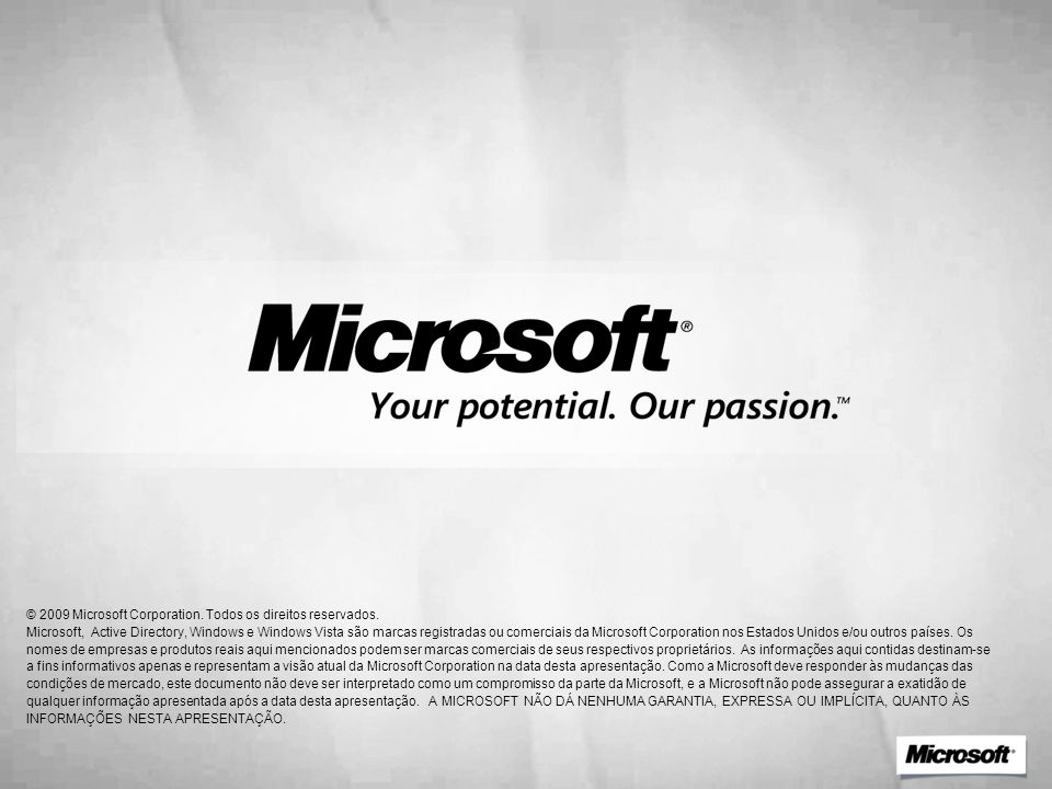 4/1/2017 8:56 PM © 2009 Microsoft Corporation. Todos os direitos reservados.
