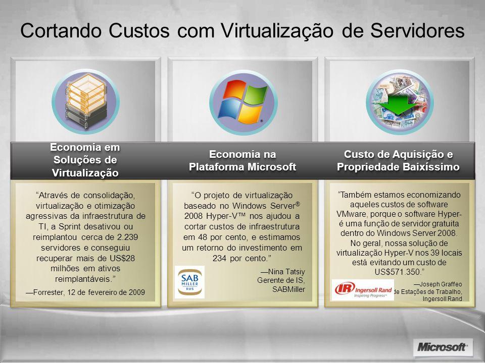 Cortando Custos com Virtualização de Servidores