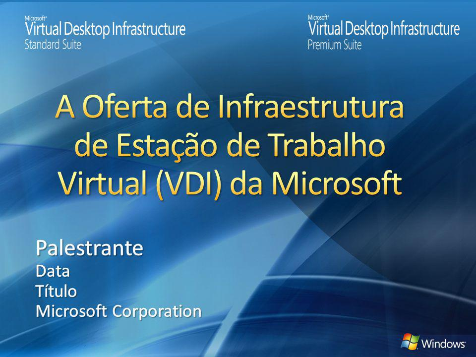 A Oferta de Infraestrutura de Estação de Trabalho Virtual (VDI) da Microsoft