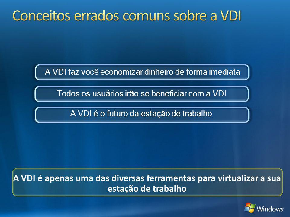 Conceitos errados comuns sobre a VDI