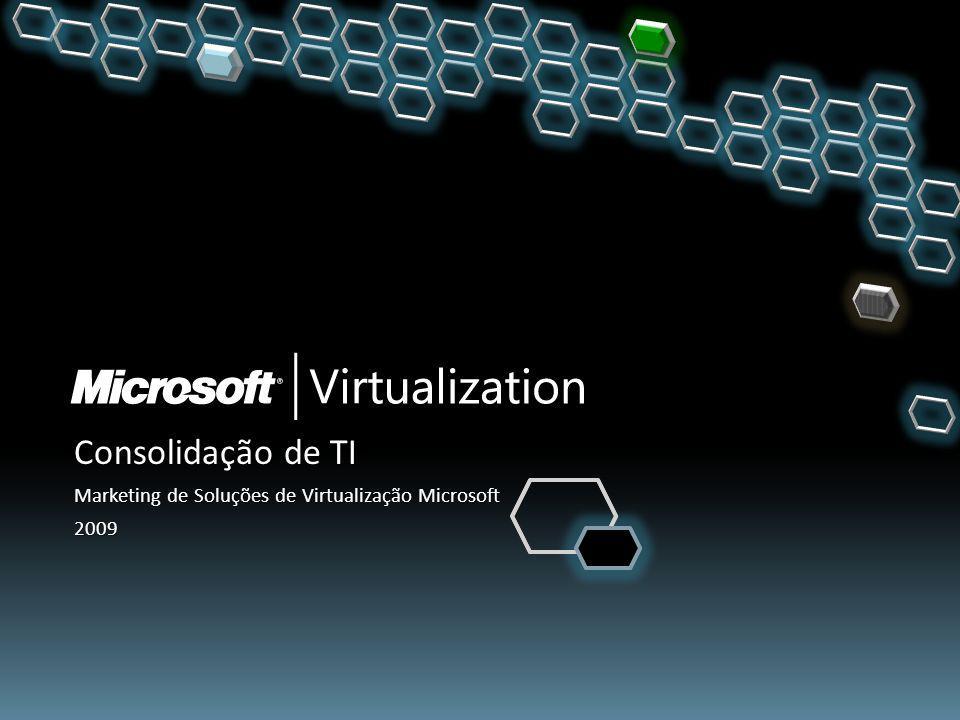 Consolidação de TI Marketing de Soluções de Virtualização Microsoft
