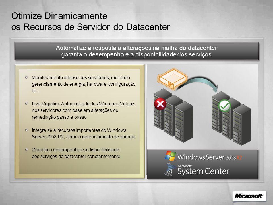Otimize Dinamicamente os Recursos de Servidor do Datacenter