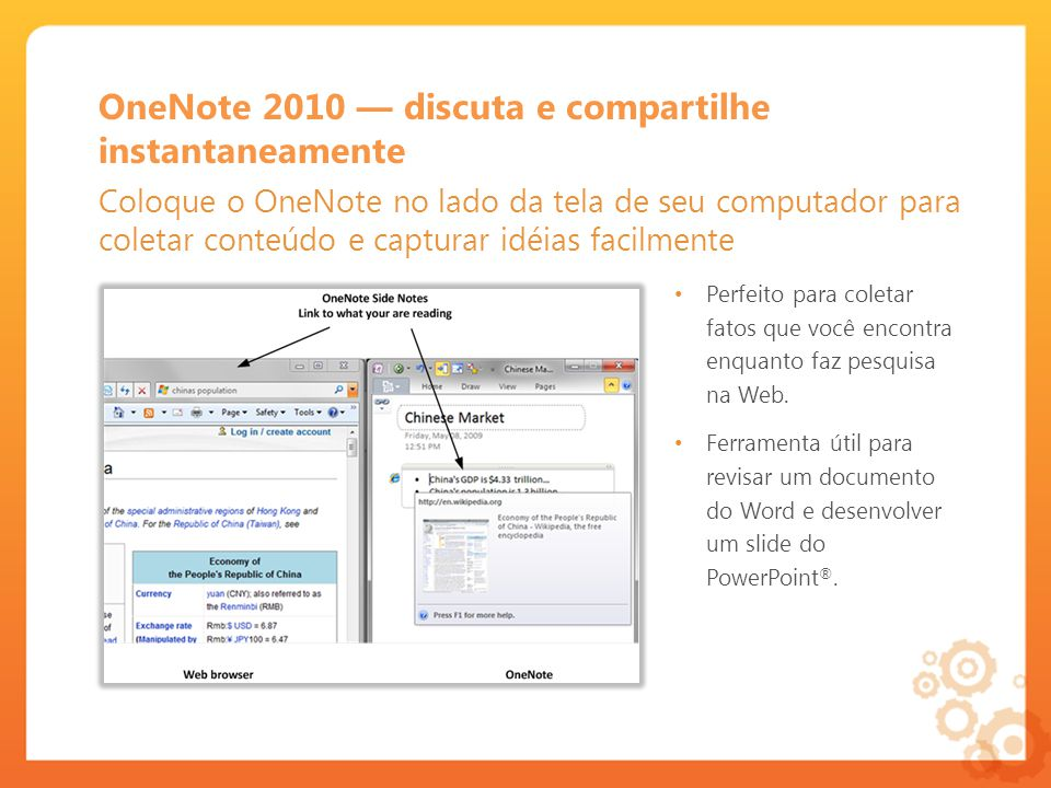 OneNote 2010 — discuta e compartilhe instantaneamente