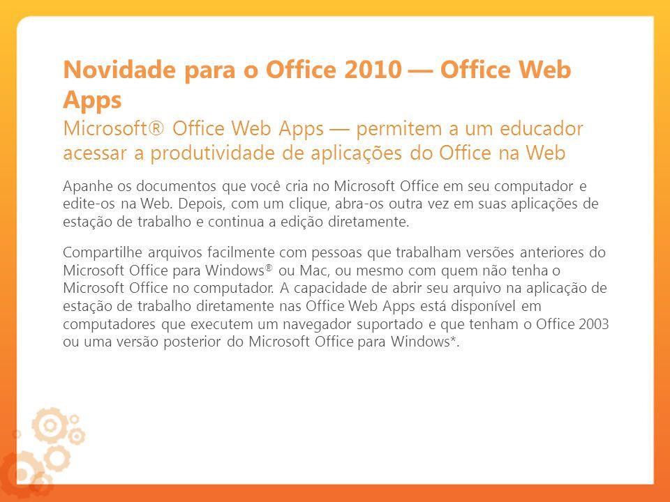 Novidade para o Office 2010 — Office Web Apps
