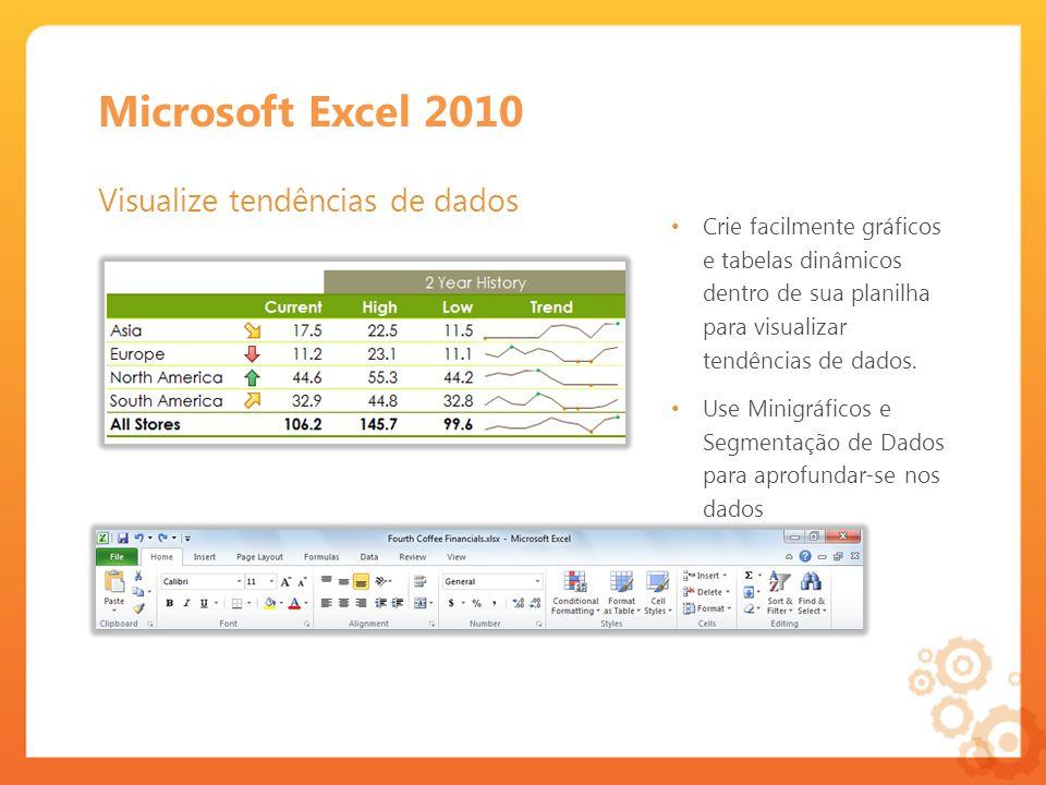 Microsoft Excel 2010 Visualize tendências de dados