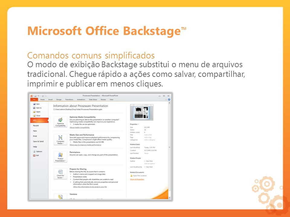 Microsoft Office Backstage™