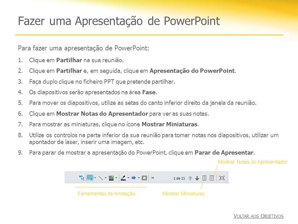 Fazer uma Apresentação de PowerPoint