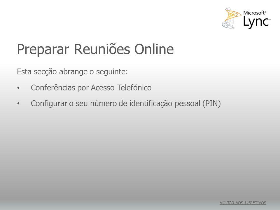 Preparar Reuniões Online