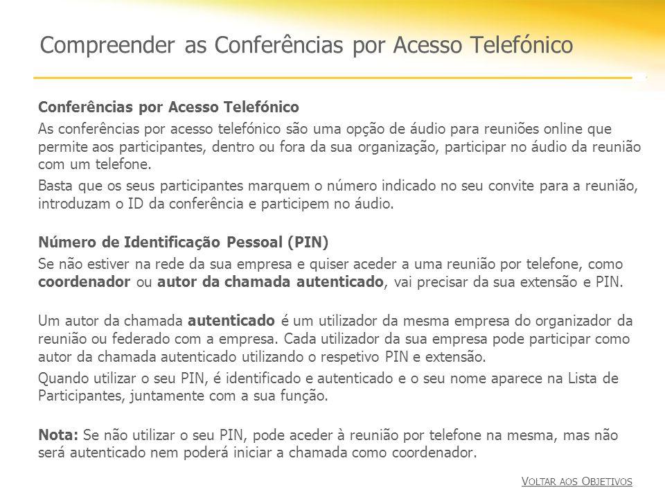 Compreender as Conferências por Acesso Telefónico