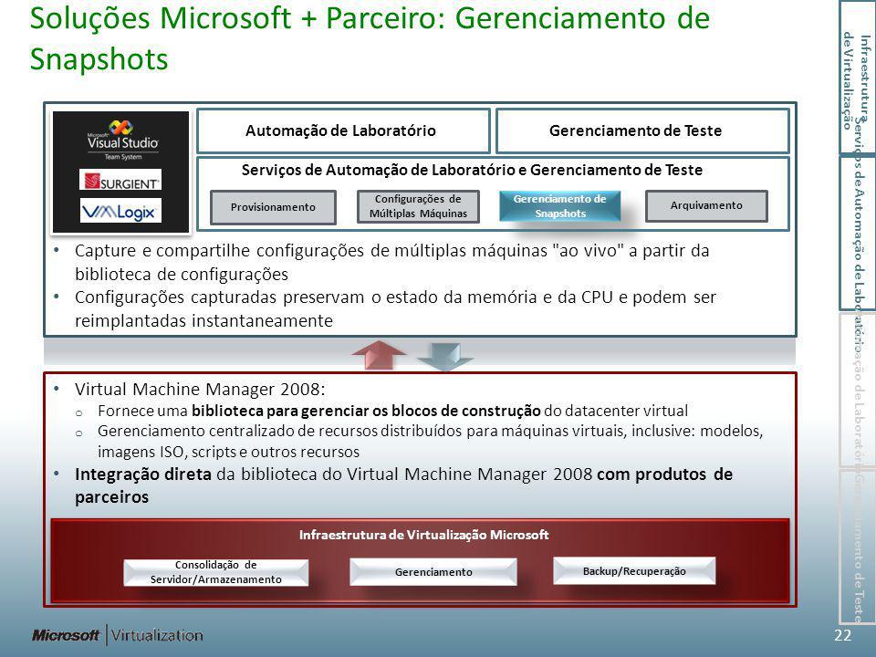 Soluções Microsoft + Parceiro: Gerenciamento de Snapshots