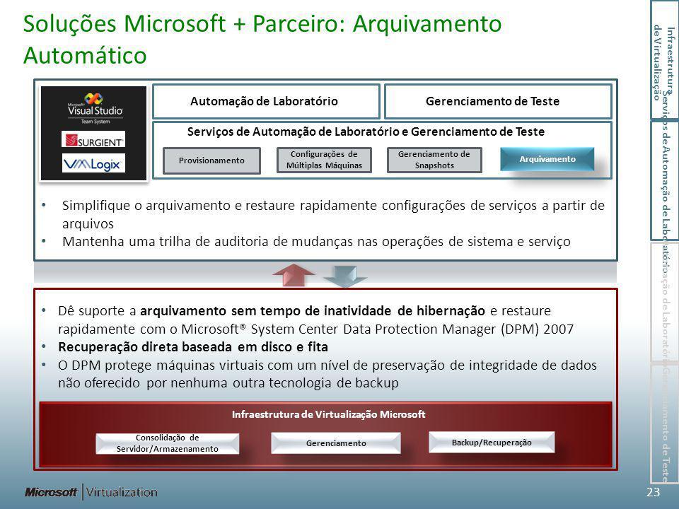 Soluções Microsoft + Parceiro: Arquivamento Automático