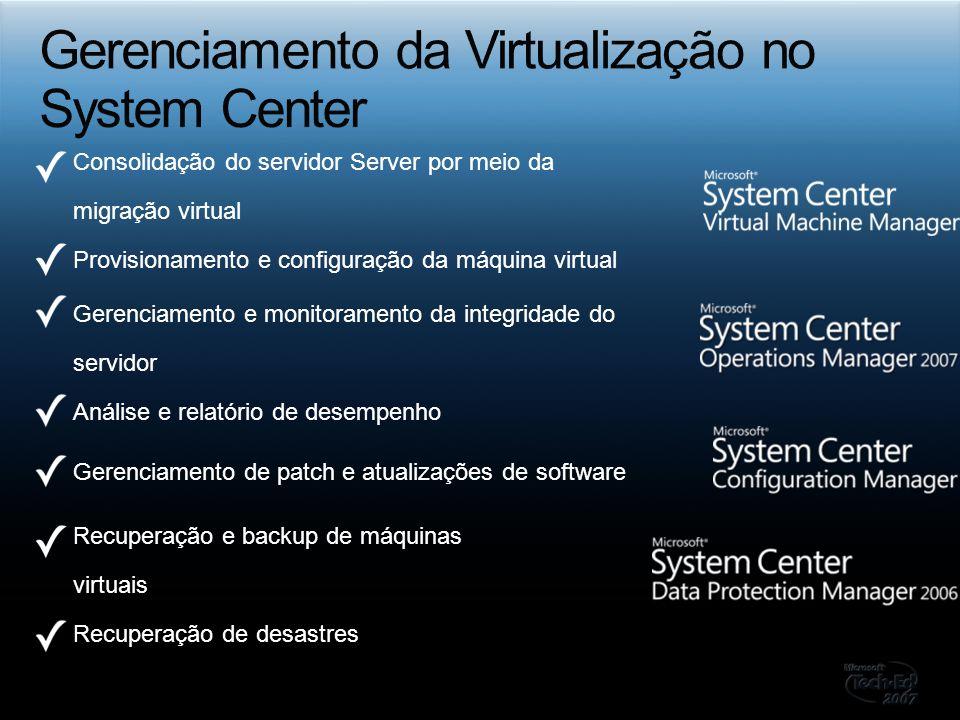 Gerenciamento da Virtualização no System Center