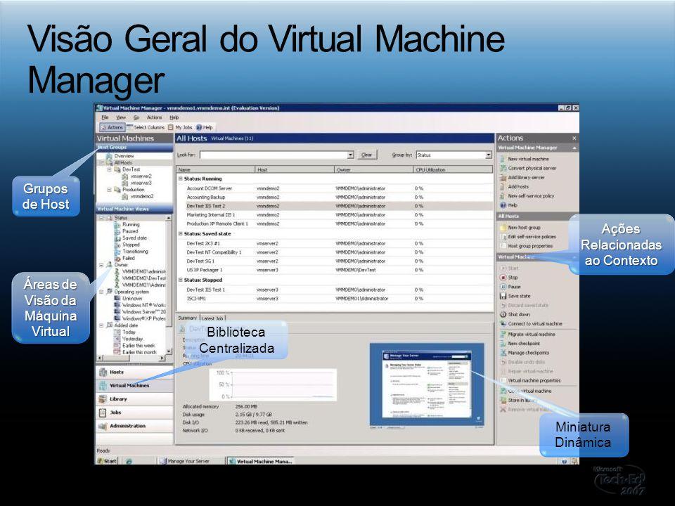 Visão Geral do Virtual Machine Manager