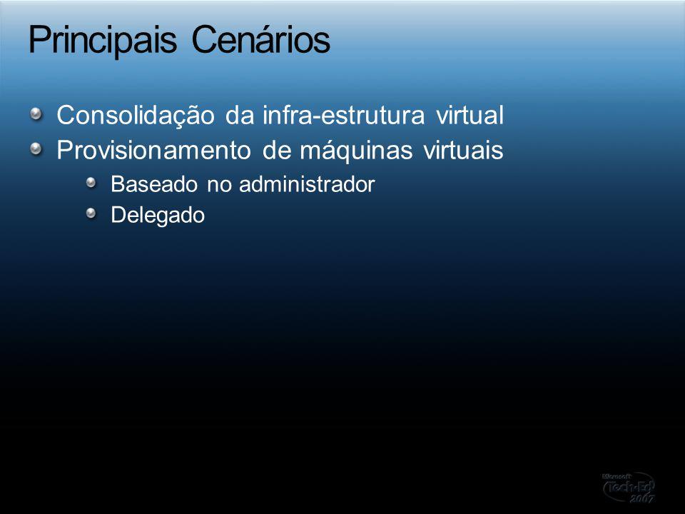 Principais Cenários Consolidação da infra-estrutura virtual