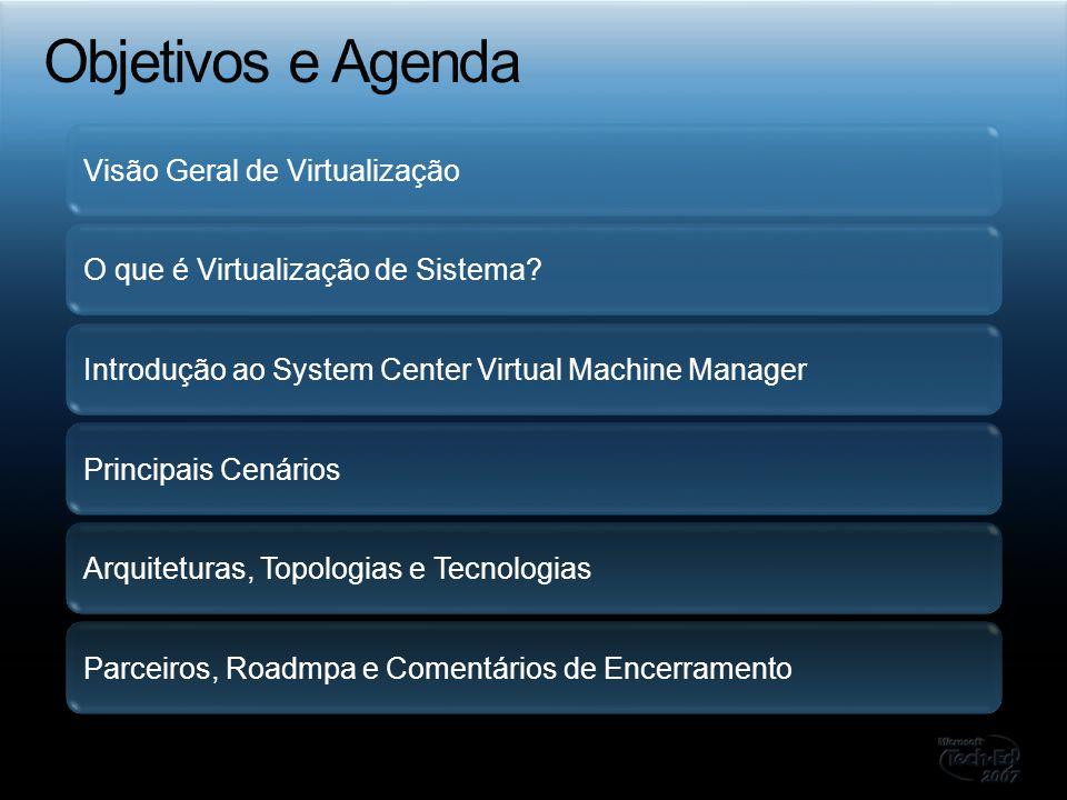 Objetivos e Agenda Visão Geral de Virtualização