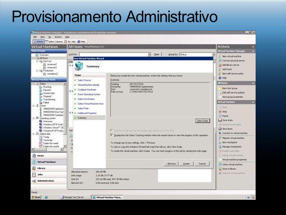 Provisionamento Administrativo