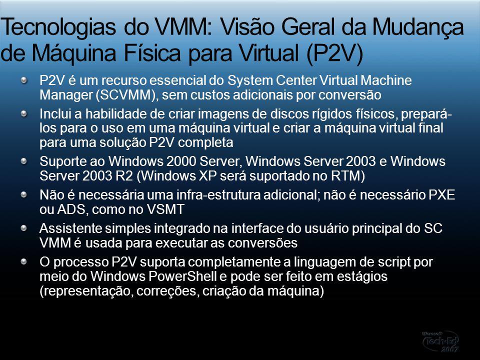 Tecnologias do VMM: Visão Geral da Mudança de Máquina Física para Virtual (P2V)
