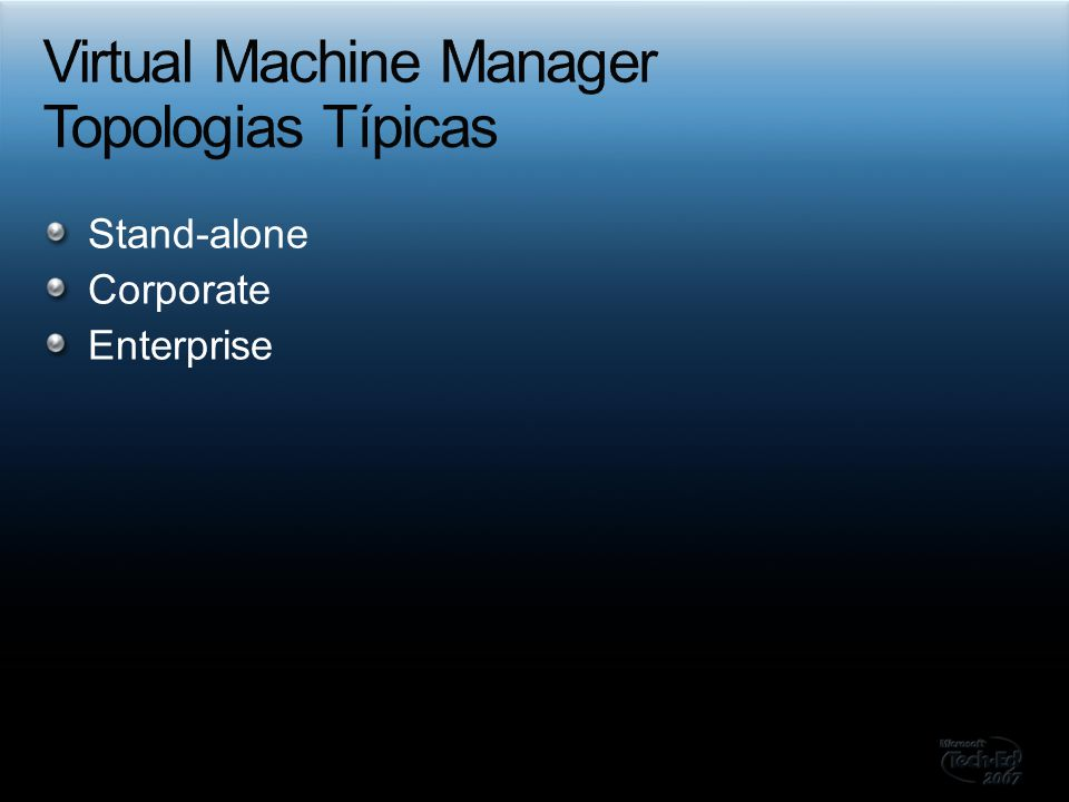 Virtual Machine Manager Topologias Típicas