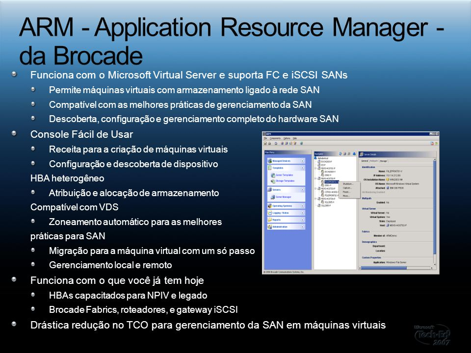 ARM - Application Resource Manager - da Brocade