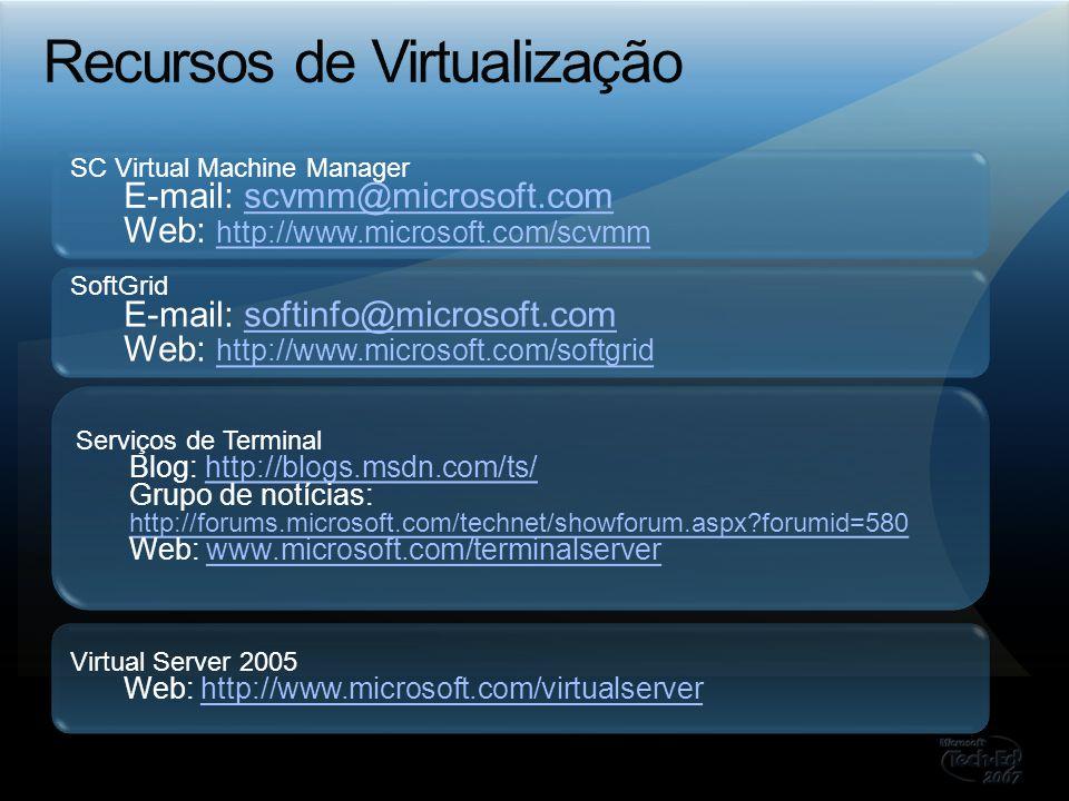 Recursos de Virtualização