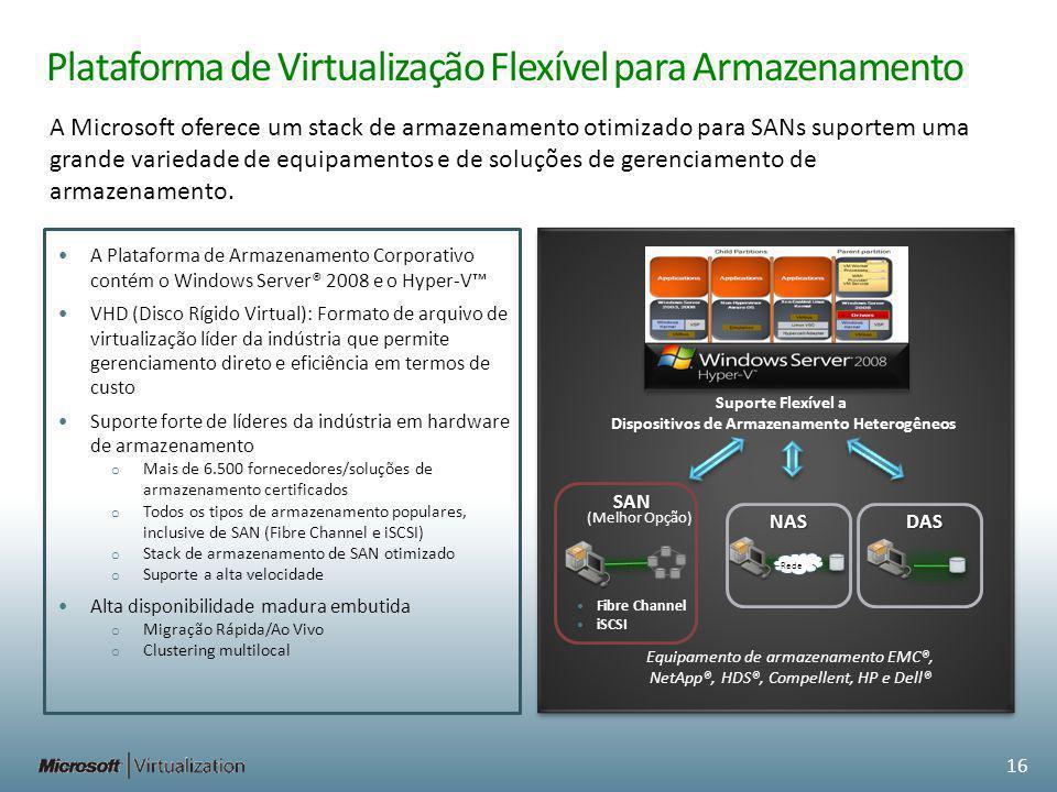 Plataforma de Virtualização Flexível para Armazenamento