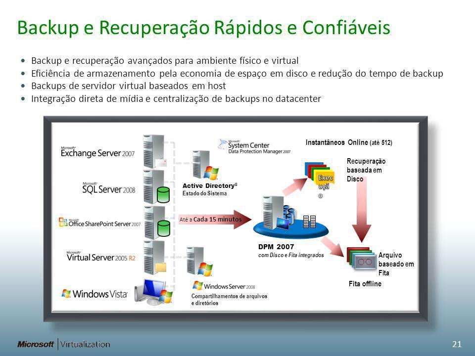 Backup e Recuperação Rápidos e Confiáveis