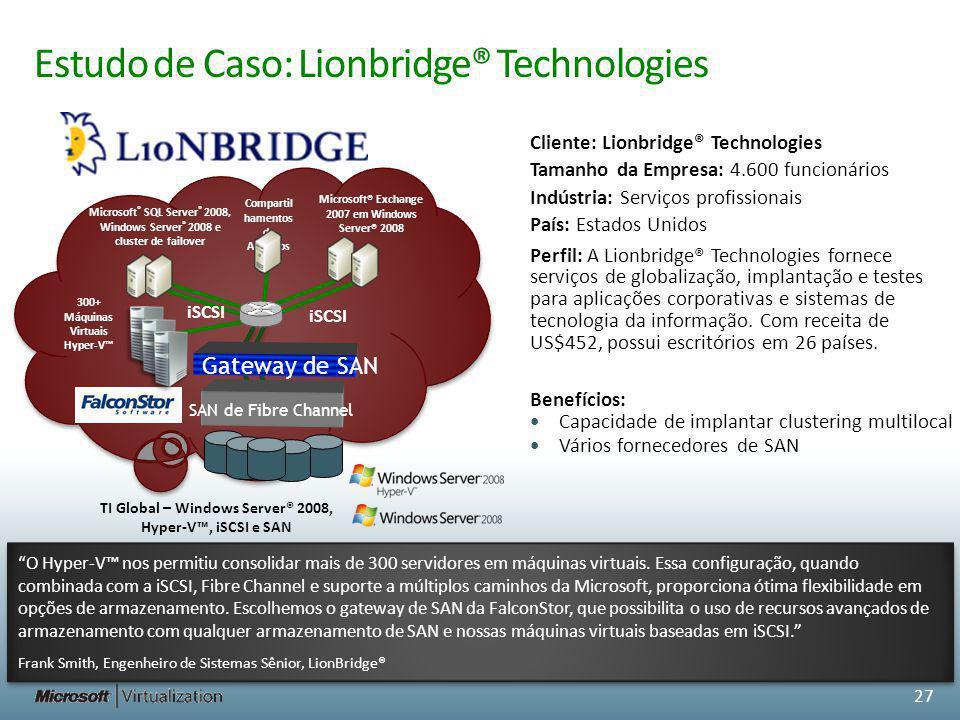 Estudo de Caso: Lionbridge® Technologies