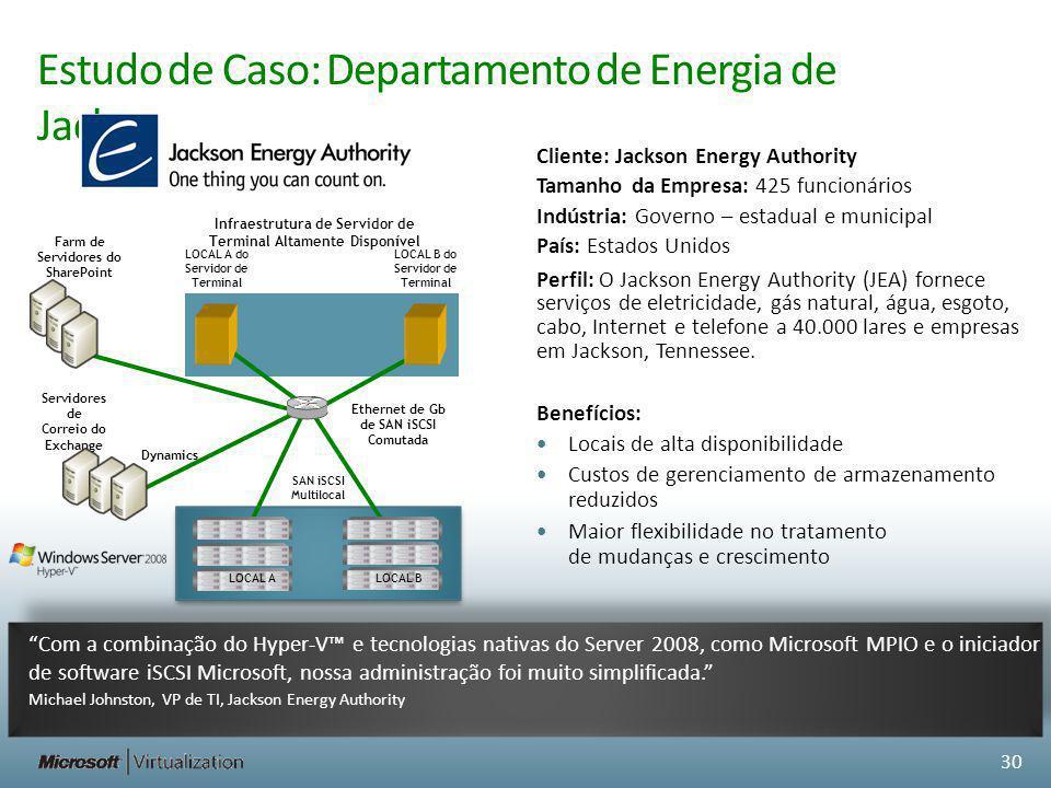Estudo de Caso: Departamento de Energia de Jackson