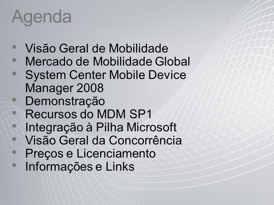 Agenda Visão Geral de Mobilidade Mercado de Mobilidade Global
