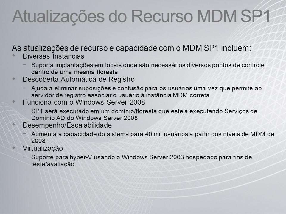 Atualizações do Recurso MDM SP1