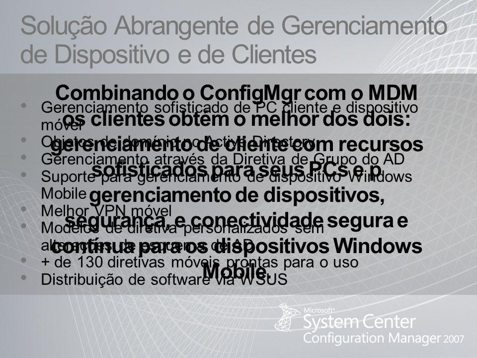 Solução Abrangente de Gerenciamento de Dispositivo e de Clientes